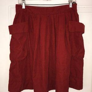 Anthropologie Maeve wine color skirt